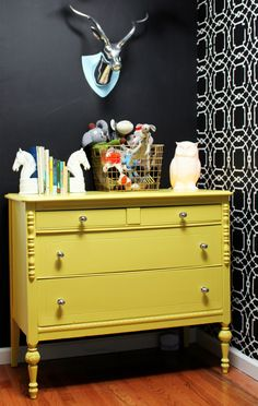 Create a feature wall with a stencil, by Courtney Schutz in House of Fifty Mag