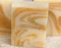 DIY -SHEA BUTTER COCONUT SOAP  Luxuriously rich, creamy and conditioning coconut oil, palm oil, nutrient rich shea butter, coconut milk, olive oil, castor oil and calendula petals to make this a wonderful skin loving bar of soap.