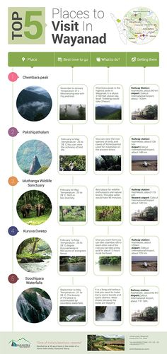 #Infographics_On_Travel - Top 5 Places to visit in Wayanad