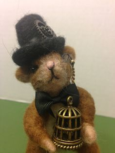 OOAK, Stephan, Steam punk Mouse, Needle Felted Mouse, Gift idea, Home decor, Collectible , by weewooleybeasties on Etsy