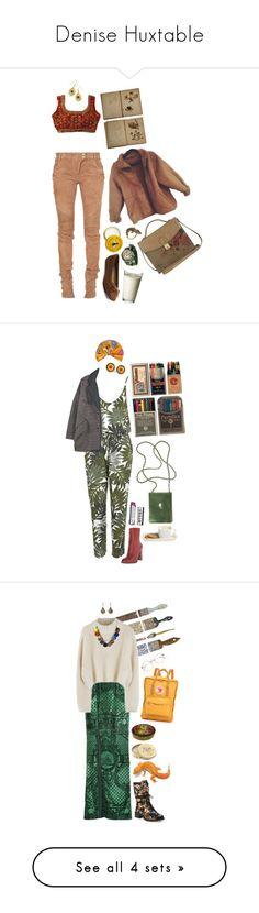 """Denise Huxtable"" by patpotato ❤ liked on Polyvore featuring Balmain, Burt's Bees, Bling Jewelry, Topshop, Isabel Marant, Sam Edelman, Stila, Etro, Rose & Co. and Fjällräven"
