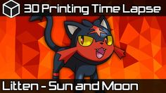 3D Printing Time Lapse | Black Litten | Which Sun and Moon Starter shoul...