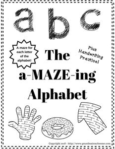 a-MAZE-ing Alphabet Workbook- There is a maze for each letter of the alphabet. Plus there is handwriting practice for each word of the alphabet. Preschool Workbooks, Preschool Curriculum, Preschool Printables, Preschool Alphabet, Homeschooling, History Classroom, School Programs, Education Quotes For Teachers, Maze