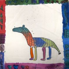 African cloth painting project-- kid's art project idea