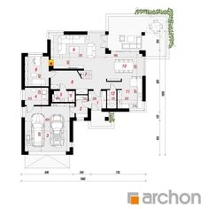 Projekt domu Willa Oliwia 3 (G2) - ARCHON+ Future House, My House, Modern House Plans, Villa, Floor Plans, Inspiration, How To Plan, Home Decor, Ideal House