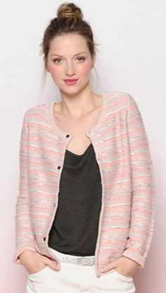 We love the colours in this knit jacket from Des Petits Hauts