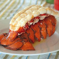 LARGE FRESH LOBSTER TAILS -- a recent addition to our traditional Thanksgiving Dinner table