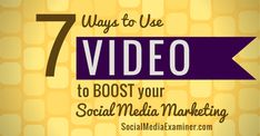 """""""Video significantly increases engagement and sharing on social media.""""--- Boost your social media marketing with video"""