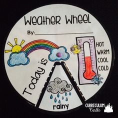 Weather wheel craft and activity. Perfect for Preschool, Kindergarten and 1st (first) grade weather unit!