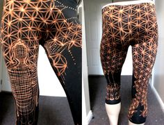 Hand Painted Buddha Flower of Life Leggings by begent on Etsy