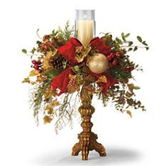 Christmas candle Chelsea Burgundy Single Hurricane