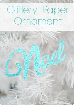 Glittery paper Christmas tree ornament - simple but so glamorous