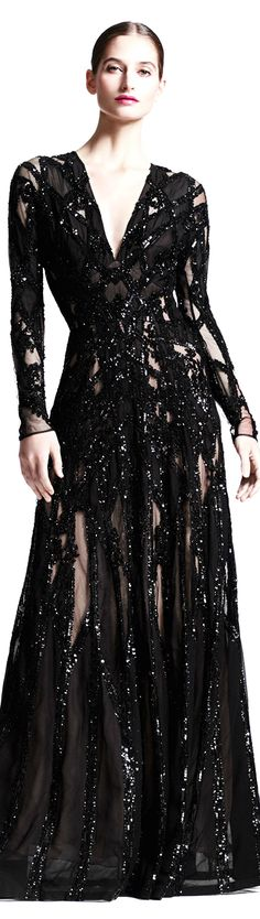 Elie Saab ● Sheer Sequin Gown