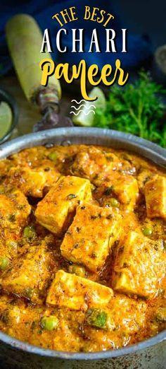 Paneer Recipes, Spicy Recipes, Curry Recipes, Vegetable Recipes, Paneer Dishes, Veg Dishes, Vegan Indian Recipes, Vegetarian Recipes, Indian Dishes