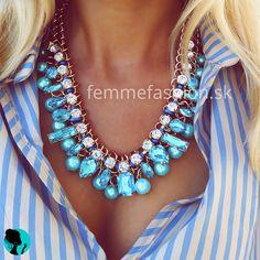 Náhrdelník Picasso Azur #necklace #necklaces #accessories #bijouterie #bizuteria #nahrdelník #jewelry  http://femmefashion.sk/nahrdelniky/2532-nahrdelnik-picasso-azur.html