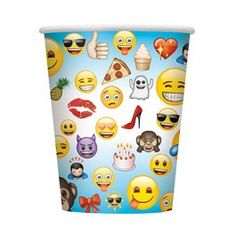 Emoji Party Supplies, Emoji Party Cups, Tableware