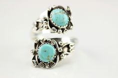 Native American Navajo .925 Sterling Silver Turquoise Adjustable Ring Size 10.5 by LoudCrowTrading on Etsy