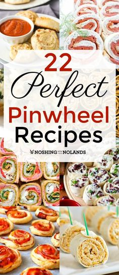 22 Perfect Pinwheel Recipes by Noshing With The Nolands are so versatile they will take you from the lunchbox to entertaining! Appetizers For Party, Appetizer Recipes, Snack Recipes, Cooking Recipes, Pinwheel Appetizers, New Recipes, Holiday Recipes, Favorite Recipes, Holiday Foods