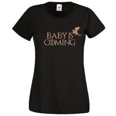Baby is coming Mai, Dragon, Mens Tops, T Shirt, Women, Fashion, Supreme T Shirt, Moda, Tee Shirt