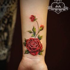 "30 Likes, 1 Comments - Miya Tang (@hardcandy_tattoo) on Instagram: ""#rosetattoo #flowertattoo #flowertattoos #flowertattoodesign #rose"""