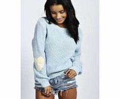 boohoo Harper Heart Elbow Patch Jumper - blue azz33189 Knitwear gets knock-out this season with pretty pastel palettes - crop jumpers come in candy colours and shawls in sherbet shades. Wear cardigans and jumpers oversized and vintage- inspired with distr http://www.comparestoreprices.co.uk/womens-clothes/boohoo-harper-heart-elbow-patch-jumper--blue-azz33189.asp