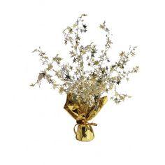 Tischdeko mit Sterne gold, silber