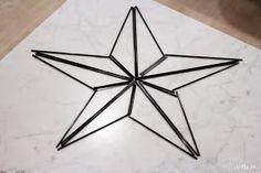 Innostuin yhtenä iltana tekemään tähtihimmelin, ensin piirsin paperille mallin ja sitten vain pillejä leikkaamaan. Kerrankin onnistuin e...
