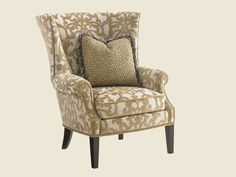 "Design Center Associates | Armchair | Kilimanjaro Marissa Wing Chair | Lexington Furniture | DIMENSIONS 36"" W x 44"" H x 38"" D"
