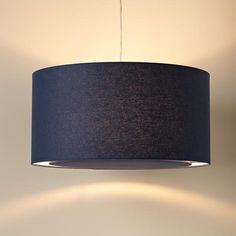The Land of Nod | Kids' Lighting: Kids Dark Blue Fabric Ceiling Lamp in Ceiling Fixtures. For MJs room!