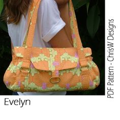 """INSTANT DOWNLOAD - Handbag sewing pattern - PDF- """"Evelyn"""" Floral purse with lots of pockets, make it yourself on Etsy, $9.95"""