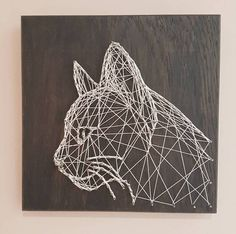 49 easy diy home decor ideas on a budget to beautify your home 10 Nail String Art, String Crafts, Dog Artwork, String Art Patterns, Pin Art, Design Art, Art Projects, Arts And Crafts, Artsy