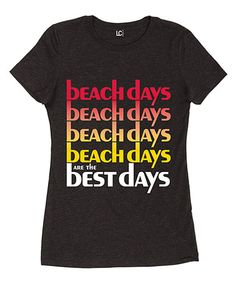 afea3fd7ac2 LC Trendz Junior s Heather Black  Beach Days Best Days  Fitted Tee