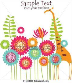 花, バックグラウンド, ∥で∥, キリン 拡大イラストを見る