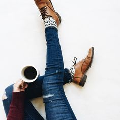 """""""I really love vintage shoes. Mostly because someone else broke them in for me  (another ridiculously cool find from my girl @stylish_treasures  you…"""""""
