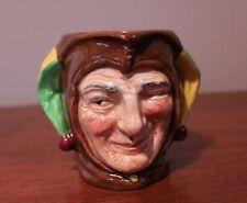 "Vintage Royal Doulton Toby Character Jug Mug JESTER made in ENGLAND 3 3/4"""
