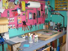 My stained glass work space by Cheryl_Tagz, via Flickr