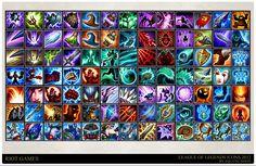 League of Legends - champion icons, Trent Kaniuga - Aquatic Moon on ArtStation at https://www.artstation.com/artwork/rDDdG?utm_campaign=digest&utm_medium=email&utm_source=email_digest_mailer