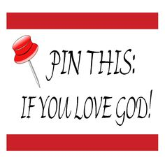 Pin this if you love God!