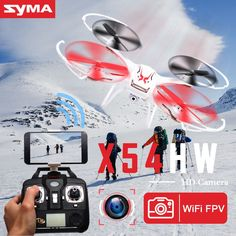 Original SYMA X54HW RC Helicopter 2.4G 4CH 6-Axis Remote Control Quadcopter Hover 3D Flip Drone with HD Camera Model Gift Toy #Affiliate