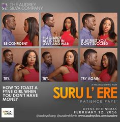 "#How2ToastAFyneGirlWhenUDontHavMoney"" Rita Dominics new movie Suru lere to be premiered on February 12       Watch Trailer Here  The Audrey Silva Company today announced plans for the world-wide premiere of a new Nollywood movie titled Suru lere (Patience pays) produced byMildred Okwo and Rita Dominic on February 12. The movie is a romantic comedy about a young man Arinze (Seun Ajayi) whose chance meeting with a beautiful woman Omosigho (Beverly Naya) causes him to explore a get rich quick…"
