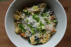Chard Pasta with Golden Raisins and Jalapenos @ How to Ice a Cake