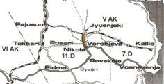 Ylä-Syvärin kenttärata oli Pajusuolta Kallioon.(71.6km.) Nikolan laiturilta Jyvenjoen liikennepaikalle johti puukiskorata(8.6 km).