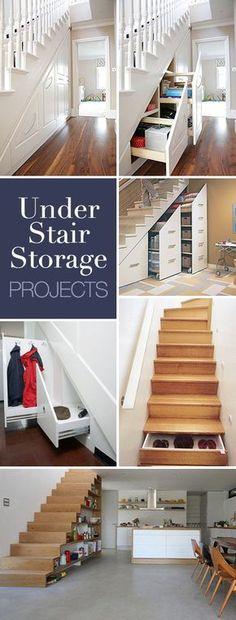 Under stair storage ideas * lots of ideas & tutorials! Storage Spaces, Storage Ideas, Stair Storage, Closet Storage, Pegboard Storage, Under Stairs, Home Reno, Home Organization, My Dream Home