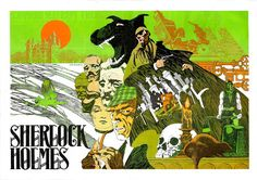 This poster of Sherlock Holmes by Jim Steranko was included in Steranko's Mediascene magazine from 1975.