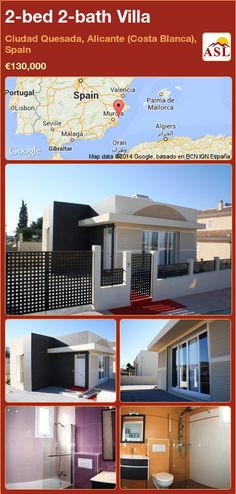 2-bed 2-bath Villa in Ciudad Quesada, Alicante (Costa Blanca), Spain ►€130,000 #PropertyForSaleInSpain