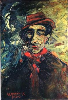 "Maurice de Vlaminck, Paris (1876–1958). French Fauvist painter. ""Man Smoking a Pipe"" (1900)."
