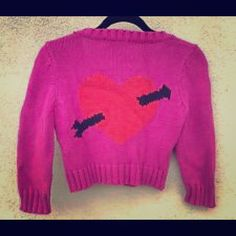 $290 🎀🎀Vintage BJ sweater circa 2005 mint🎀🎀 Pretty in hearts not just pink Betsey Johnson Sweaters
