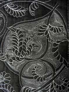 white on black: reversible quilt by Cindy Needham