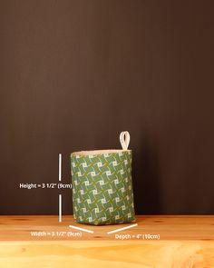 Umzi Fabric Storage Basket - Light Green | Chameleon Goods