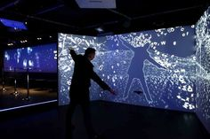 What is an Interactive Installation? Interactive digital installations are an… Interactive Projection, Interactive Exhibition, Interactive Walls, Interactive Display, Interactive Media, Projection Mapping, Fantasy Warrior, Interaktives Design, Tattoo Collection
